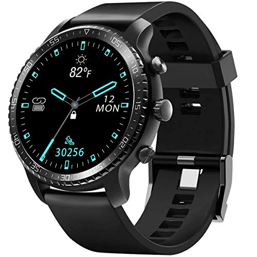 DOOK GPS Smartwatch, Reloj Inteligente con 1.3' Pantalla Táctil Completa, Pulsera Actividad Inteligente Hombre Mujer 5ATM Impermeable Reloj Deportivo con Cronómetro Pulsómetro para Android y iOS