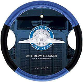 """United Pacific 70408 18"""" Carbon Fiber Style Steering Wheel Cover"""