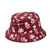 TININNA Estivo Unisex Coconut Tree Stampe Cotone Bucket Hat Cappello da Pescatore Berretti...
