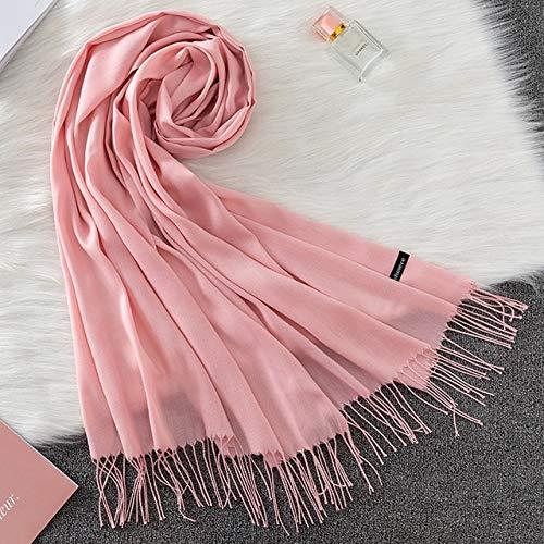 Weiblicher Schal Winter Warmer Schal und Schal Hijab Shop Lange Frauen Tweed Schal - 5