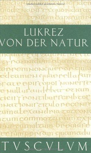 Von der Natur (Sammlung Tusculum)