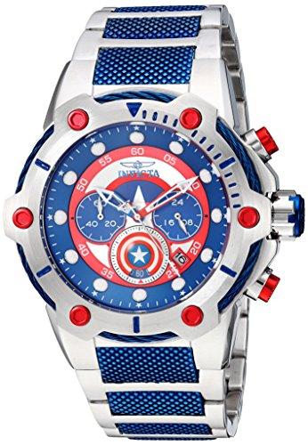 Relógio Invicta Marvel 25780 Original Capitão America Edição Limitada