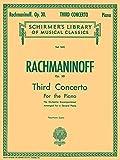 Photo Gallery concerto no. 3 in d minor, op. 30 schirmer s library of musical classics, vol. 1610, 2 pianos, 4 hands