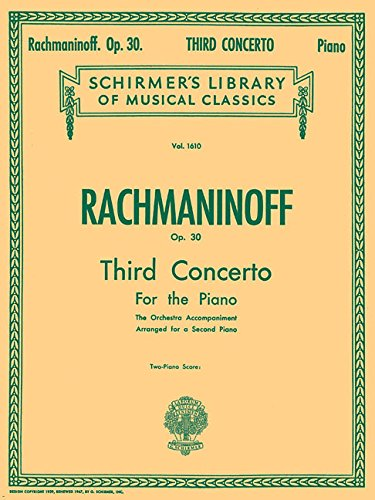 Concerto No. 3 in D Minor, Op. 30: NFMC 2020-2024 Selection Schirmer Library of Classics Volume 1610 Piano Duet (Schirmer's Library of Musical Classics)