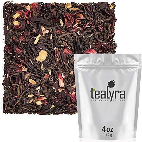 Tealyra - Flat Belly Pu'erh - Hibiscus - Peppermint - Fennel - Loose Leaf Tea Blend - Pu rh Diet and Slimming Tea - Best Weight Loss Tea - Caffeine Bold - All Natural Ingredients - 110g (4-ounce)