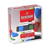 Renshaw Fondant Pro Pack Colores Primarios 5 x 100g (Verde, Rojo, Negro, Azul y Amarillo)