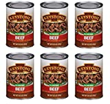 Keystone Meats All Natural Canned Beef, Ground, 14 Ounce (Pack of 6)