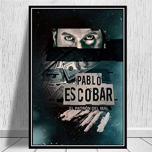 yitiantulong Pablo Escobar Charakter Legende Retro Vintage Poster Wandmalerei Leinwand Kunst Wandbilder Wohnkultur Картины Plakat A-2785 (40X60Cm) Ohne Rahmen