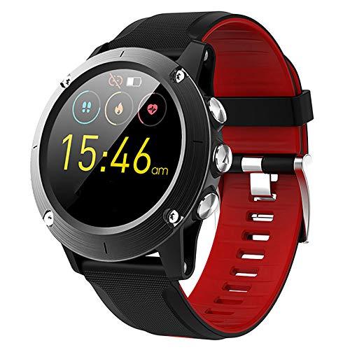 XSWZAQ Reloj Deportivo Inteligente GPS, Reloj Impermeable Bluetooth de medición de altitud de presión Arterial de frecuencia cardíaca de montañismo