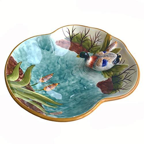 Cool Lemon Ceramic 3D Animal Fruit Snack Dessert Salad Dishes Plates Bowl Tray Soap Jewelry Holder Dish Tray Key Trinket Collective Organizer Bowl for Bathroom Home Hallway Dresser Duck