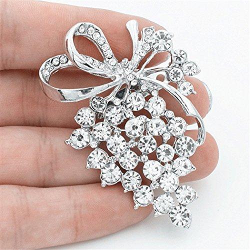 Prachtige Legering Druiven Broche Pin Corsage Crystal Strass Sieraden Prinses Koningin Kostuum Accessoires (J-0227)
