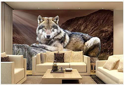 Fototapete benutzerdefinierte 3D Wandbild HD Wolf Stumpf dekorative Malerei Hintergrund Wandtapete @ 150 * 105cm