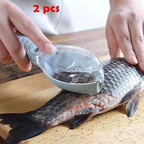 Plastic Fish Scales Graters Scraper, Fish Skin Brush Fish Cleaning...