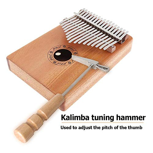 Finger Klavier Holz Tragbare Metall Daumen for Alle Größe Kalimba Piano Tuning Hammer Strong Durable Silber Gelb Stiel Holz Tuner