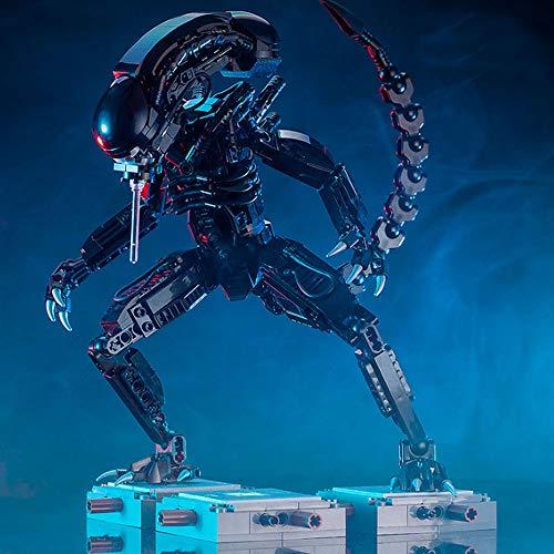 Modbrix Bausteine Alien Xenomorph Figur, 29 cm, 603 Klemmbausteine