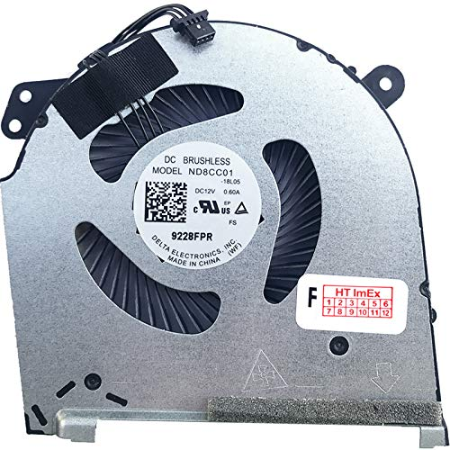 Fan Cooler GPU Version for HP Omen 15-dh RTX 2070 Super Max-Q, 15-dh RTX 2070 Max-Q, 15t-dh, 15t-dh000