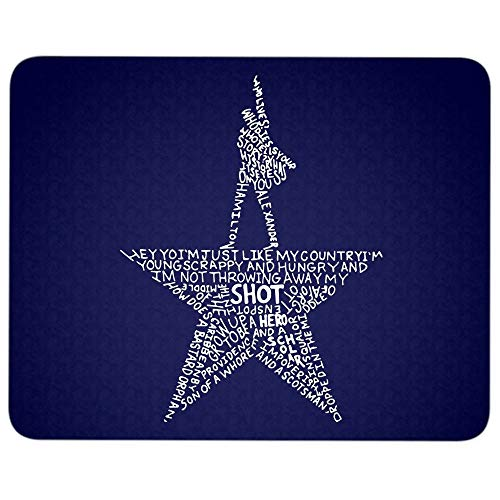 Hamilton Gold Star Mouse Pad for Typist Office, Alexander Hamilton Musical Quality Comfortable Mouse Pad (Mouse Pad - Navy)