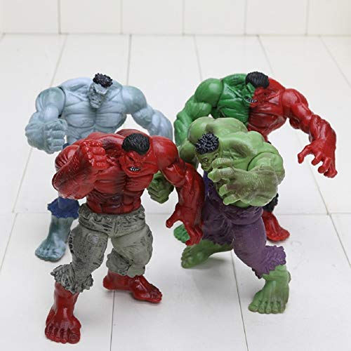 ALANAST Marvel Avengers Titan Hero Series Hulk Action Figure 5 inch Marvel Legends Hot Toys Avengers Infinity War PVC 4pcs/Set Hulk Compound Red Grey Green