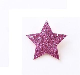 Osize 美しいスタイル Pentagram Little Girlヘッドドレスヘアクリップサイドダックビルクリップ(パープル)