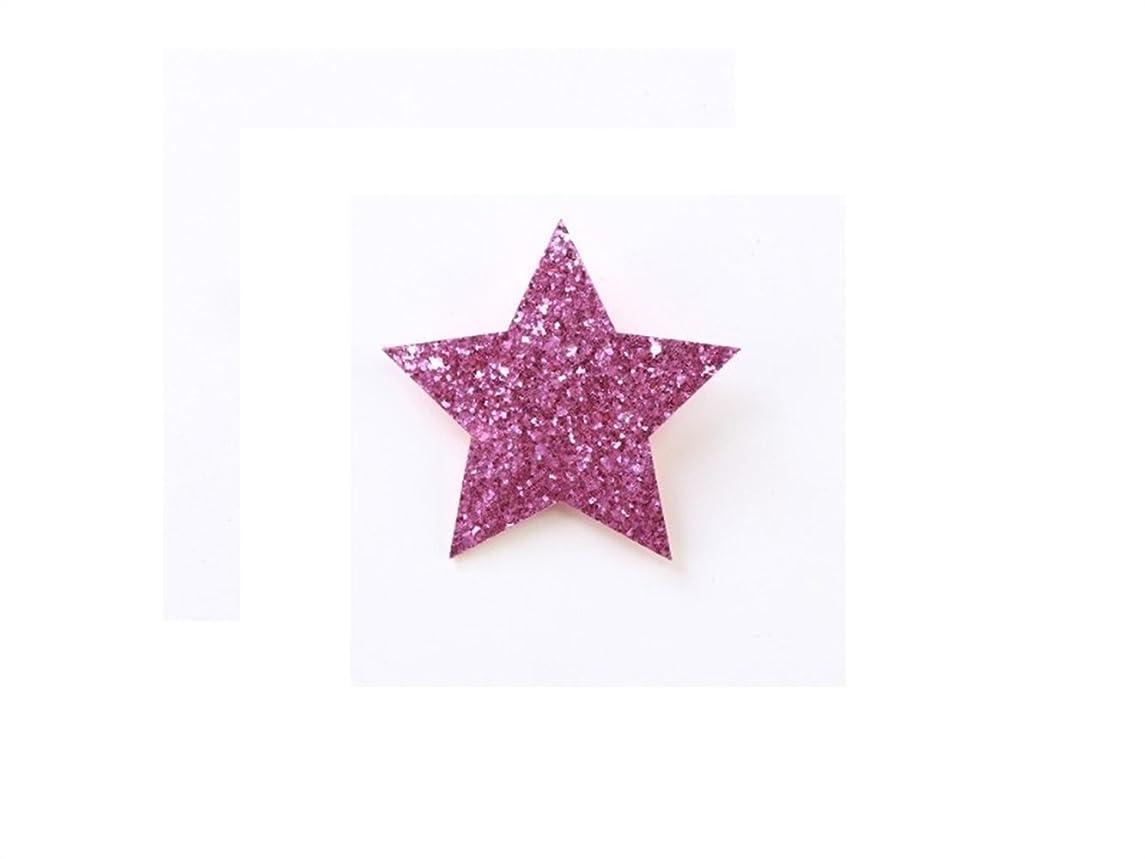 引退した漏れ前提条件Osize 美しいスタイル Pentagram Little Girlヘッドドレスヘアクリップサイドダックビルクリップ(パープル)