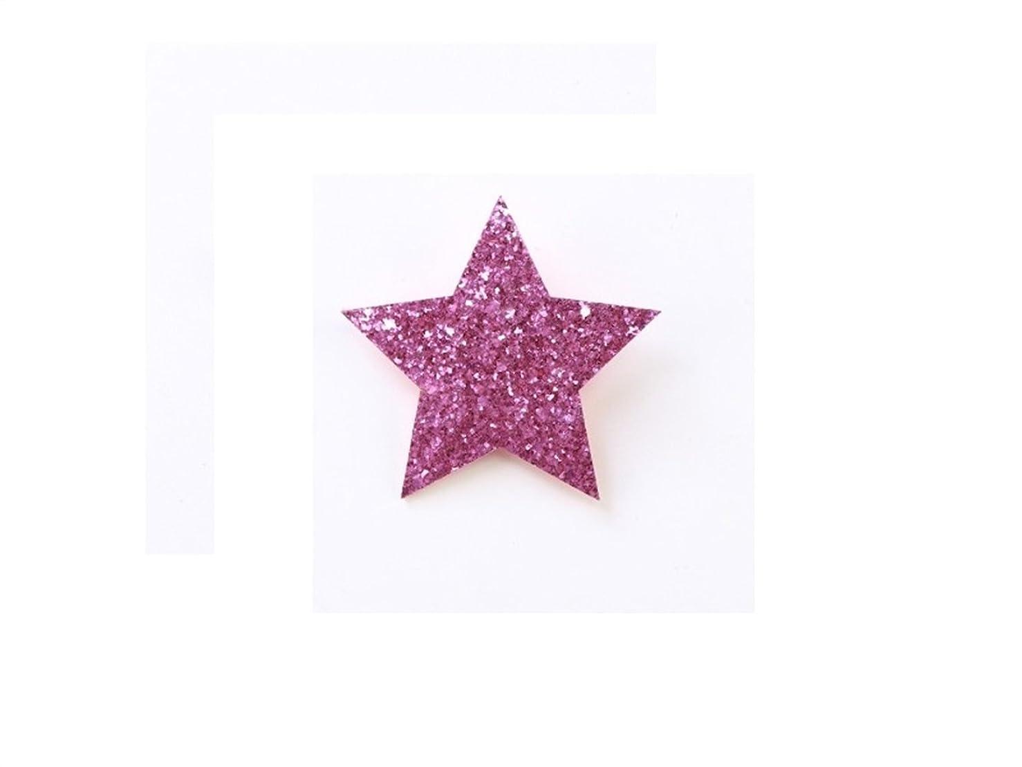 年次突破口郵便番号Osize 美しいスタイル Pentagram Little Girlヘッドドレスヘアクリップサイドダックビルクリップ(パープル)