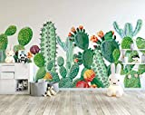 papel pintado 3D personalizado Pared Wallpaper Cactus Pintado A Mano dormitorio cocina 3D empapelar Fotomural Decoración damasco murales decoración de paredes moderna