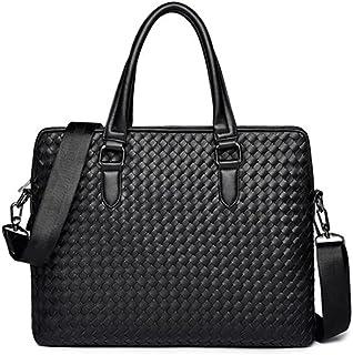 Wuhapininnstb حقائب عمل للرجال حقيبة منفصلة حقيبة يد حقيبة ظهر Perfunctory Fashion Leather Men's Business Bag Shoulder Lap...