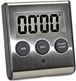 eTradewinds Elegant Stainless Steel Digital Kitchen Timer