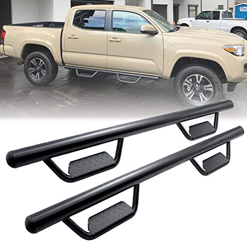 Running Boards Side Step Nerf Bars Hoop Bar For 2005-2020 Toyota Tacoma Double Cab/Crew Cab With 4 Full Size Door (driver And Passenger Side),drop Step Style,matte Black,3 Inches,round Tube