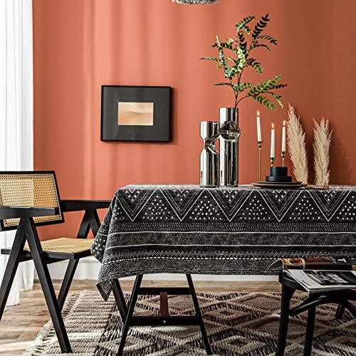 WHDJ Baumwolltuch Tischdecken, Rechteck Dunkle Farbe Tischdecke Anti-Staub Anti-Rutsch-Faltenfreie Tischdecke für Esszimmer