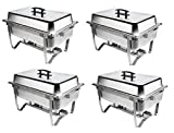 Chafer 4 Pack Premier Chafers Stainless Steel Chafer Dish 8 Qt. Capacity (Quantity 4 Chafing Dish Sets) Brand New Full Complete Chafer Systems