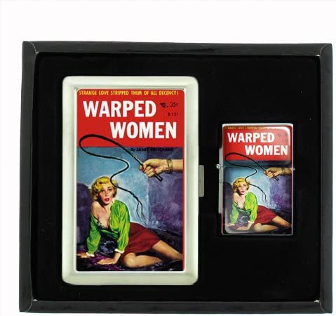 Over item handling Warped Women Blonde Whip Pulp Cigarette Case Lighter Oil Gif Fort Worth Mall and
