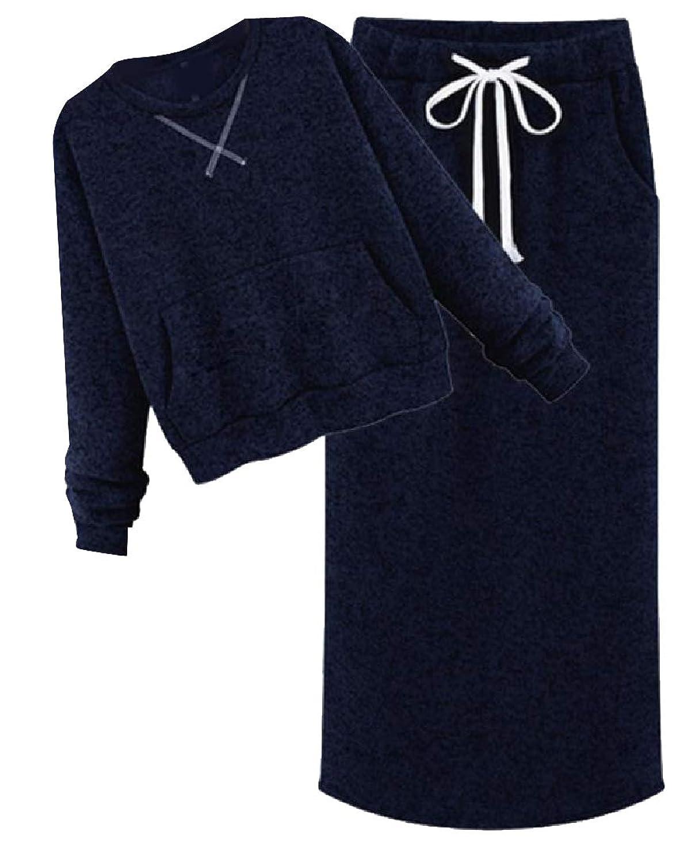 sayahe 女性は、ポケットでセットされる綿のトラックスーツを編みました