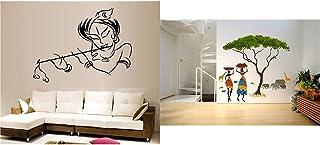 Decals Design StickersKart Wall Stickers Krishna Modern Art& 'Artistic Tribal Ladies with Animals Nature' Wall Sticker