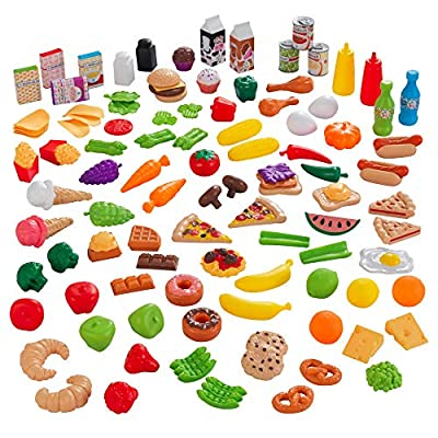 KidKraft KidKraft 115-Piece Deluxe Tasty Treats Pretend Play Food Set, Plastic Grocery and Pantry Items ,Gift for Ages 3+ from Kidkraft