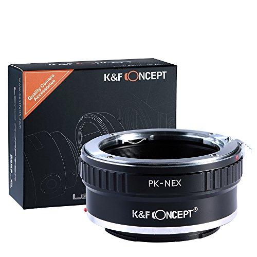 Adaptador PK - NEX, K&F Concept Adaptador para Montar la Lente Pentax k a Sony E Cámaras