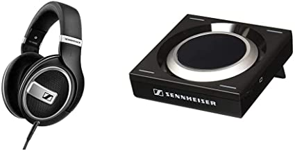 Sennheiser HD 599 SE Around Ear Open Back Headphone (Amazon Exclusive) & GSX 1000 Gaming Audio Amplifier, 7.1 Surround Sou...