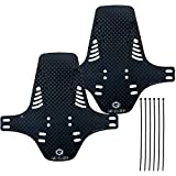 CNC Mountain Bike Fenders MTB Mudguard Front and Rear Mud Guard fit 20', 26', 27.5', 29', DH and Endure Bike, Reflective, Gray, S1, 2 pcs