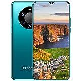 Teléfono Inteligente Desbloqueado, Android 10 Teléfono Celular Desbloqueado Teléfonos Dual Sim 6.5 Pulgadas Alta Definición 5200Mah Face ID + Huella Digital 5G,Verde