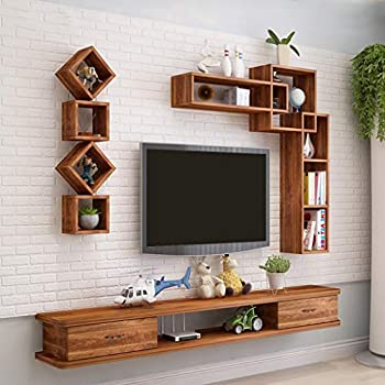 ROMELAREU Meuble TV Bois de Teck recycl/é 90 x 30 x 55 cm Meubles Meubles Audio//vid/éo et pour Home cin/éma
