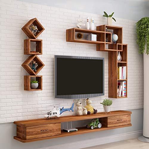 GDF-SCAFFALATURE FLOTTANTI mobiele console audio/video van hout aan de muur TV-boxen Via satellietkabel Dvd