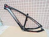 FLYAWAY Cuadro de Carbono de Bicicleta 26 * 16 Pulgadas Cuadro de Carbono MTB 26 Er BSA Bb30 Cuadro de Bicicleta de Bicicleta Carga máxima 250Kg Piezas de Bicicleta 16-17 Pulgadas (165-180Cm) Negro