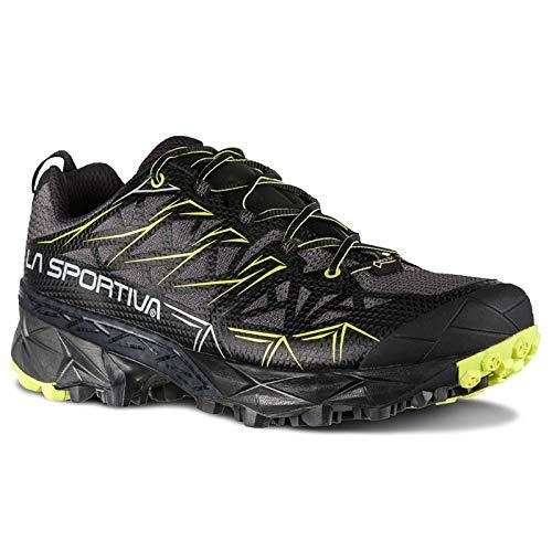 La Sportiva Akyra GTX Trail Running Shoe - Men's, Carbon/Apple Green, 44.5,...