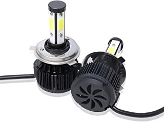 GZwdflife 2Pcs H4 LED Headlight Bulbs Conversion Kit 9003/HB2 Car Headlamp Bulbs, Lumens(Brightness) 20000 LM Each Bulb/40000 LM Each Set,Color Temperature 6000 K Cool White Double Beam DRL Fog Light
