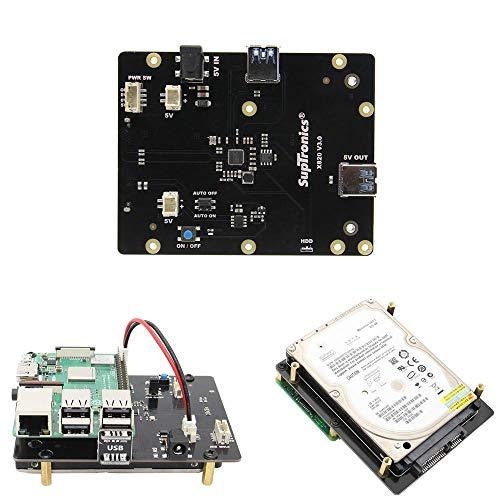 weichuang Electronic Accessories X820 V3.0 2,5 Zoll SATA HDD/SSD Speicher Erweiterungsplatine für RPi 3 Modell B/2B/B+ Elektronisches Zubehör Elektronisches Zubehör