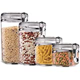 Kryllic Food Storage Containers - Pasta Containers - Pasta Storage Containers - Flour Storage Container - Storage Containers - Airtight Containers - Airtight Food Storage Container, Pantry Containers