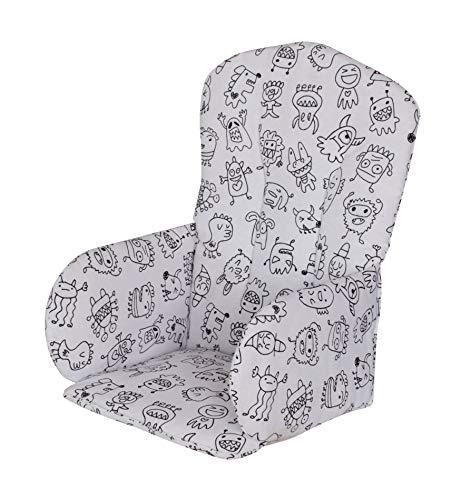 Geuther, Coussin d'assise PVC pour Chaise Haute, motif: Monstre