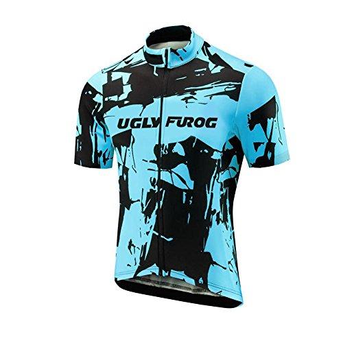 Uglyfrog Herren Frühling Fahrradbekleidung Gemütlich Radtrikot Kurzarm Windundurchlässig Fahrradtrikot Tops