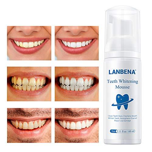 Harddo natuurlijke vlekverwijdering, tandbleekmiddel, reiniging van tandvlekken, schuim, tandenbleker, 60 ml
