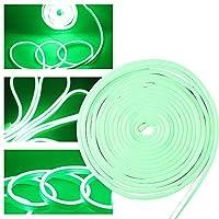 Qasim ネオンライト LED グリーン 2835 600連 5m 防水 カット可能 玄関 廊下 階段 飾りライト 12V 1個